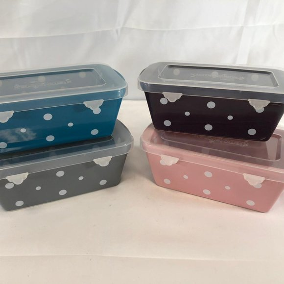 Temp-tations Set of 4 Mini Loaf Pans with Gift Box